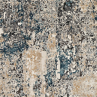 Abstract Design Area Rug, Multi, large