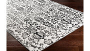 Modern Area Rug, Charcoal/Gray/White, rollover