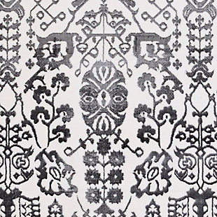 Modern Area Rug, Charcoal/Gray/White, large