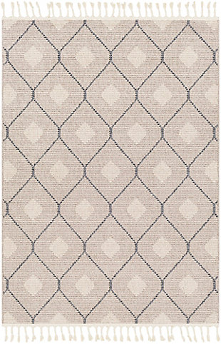 Modern Tassle Area Rug, Multi, large