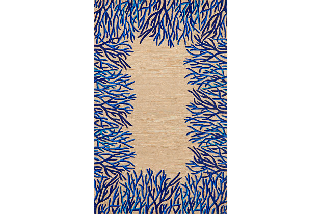 "Home Accents 5' x 7'6"" Indoor/Outdoor Rug, Natural, large"