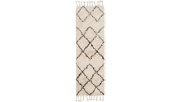 Hand Crafted Tassel Area Rug, White/Camel, rollover