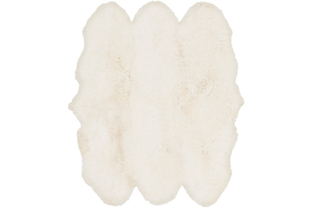Home Accents Artistic Weaver Sheepskin Area Rug, White, large