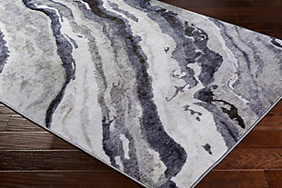 Abstract Area Rug, Multi, large