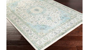 """Home Accents Aberdine 5'2"""" x 7'6"""" Area Rug, Teal/Ivory, rollover"""