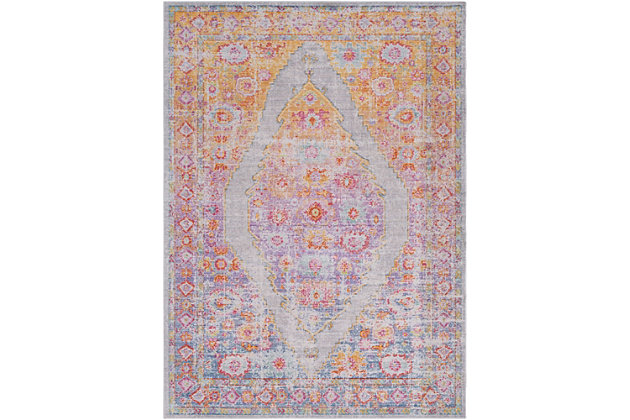 """Home Accents Antioch 3'11"""" x 5'11"""" Area Rug, Multi, large"""