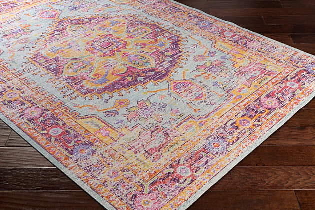 "Home Accents Antioch 5'3"" x 7'3"" Area Rug, Multi, large"