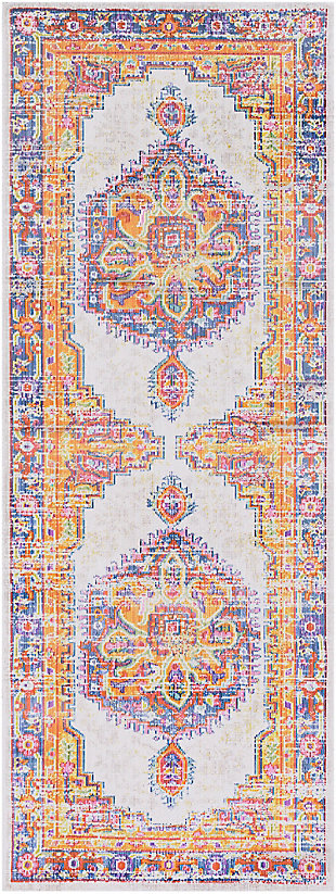 "Home Accents Antioch 3' x 7'10"" Area Rug, Multi, large"