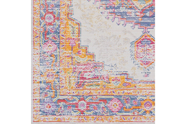 """Home Accents Antioch 3' x 7'10"""" Area Rug, Multi, large"""