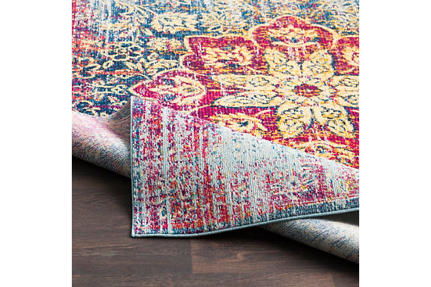 """Home Accents Aura 7'10"""" x 10'3"""" Area Rug, Multi, large"""