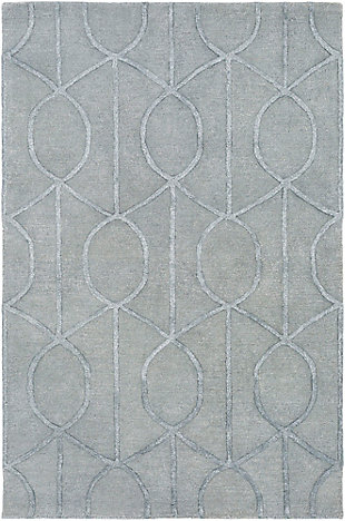 Hand Crafted 4' x 6' Area Rug, Gray, large