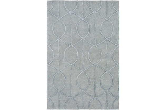 "Hand Crafted 5' x 7'6"" Area Rug, Gray, large"