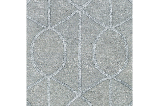 """Hand Crafted 7'6"""" x 9'6"""" Area Rug, Gray, large"""