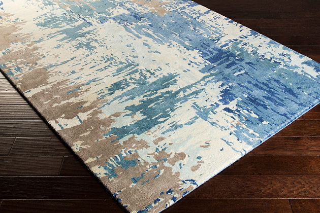 Hand Crafted 2' x 3' Area Rug, Multi, large