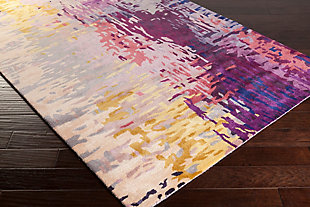 """Hand Crafted 2'6"""" x 8'  Area Rug, Multi, rollover"""