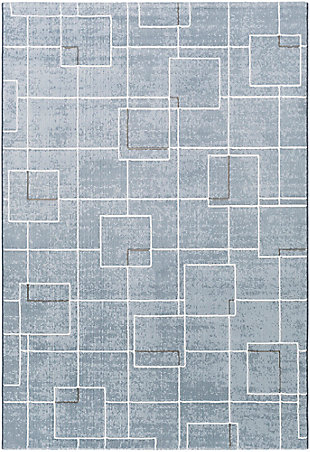 "Modern 3'11"" x 5'7"" Area Rug, Multi, large"
