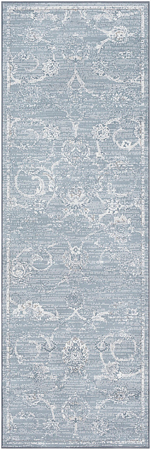 "Modern 2'7"" x 7'10"" Area Rug, Multi, large"