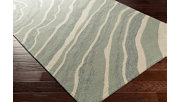 """Hand Hooked 2'6"""" x 8' Area Rug, Two-tone Gray/Beige, rollover"""