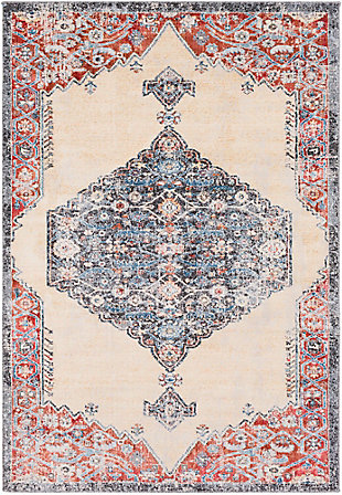 "Rectangular Transitional 5'3"" x 7'6"" Area Rug, Multi, large"