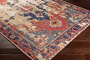 Hand Knotted 6' x 9' Area Rug, Multi, rollover