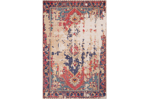 Hand Knotted 6' x 9' Area Rug, Multi, large