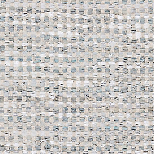 Hand Crafted 6' x 9' Area Rug, Teal/Gray, large