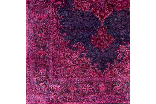 Hand Crafted 8' x 11' Area Rug, Dark Purple/Navy, large