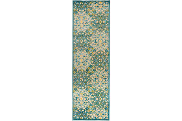 "Tufted Classic 2'6"" x 7'10"" Indoor/Outdoor Rug, Multi, large"