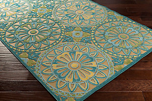 "Tufted Classic 5' x 7'6"" Indoor/Outdoor Rug, Multi, rollover"