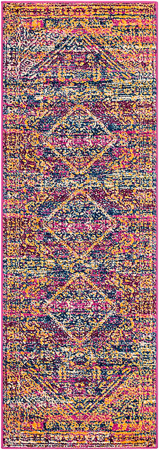 "Rectangular Transitional 2'7"" x 7'6""Area Rug, Multi, large"