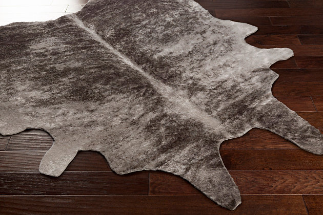 "Faux Cowhide 5' x 6'6"" Area Rug, , large"