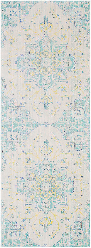 "Rectangular Transitional 3' x 7'10"" Area Rug, Multi, large"