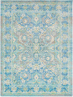 "Rectangular Transitional 5'3"" x 7'3"" Area Rug, Multi, large"