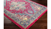 "Rectangular Classic 5'3"" x 7'6"" Area Rug, Blue/Yellow/Pink, rollover"