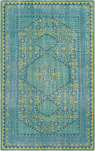 "Hand Knotted 5'6"" x 8'6"" Area Rug, Multi, large"