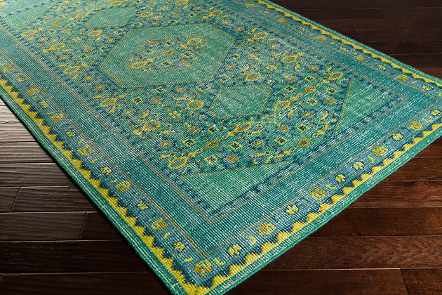 """Hand Knotted 5'6"""" x 8'6"""" Area Rug, Multi, large"""