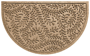 "Home Accent Aqua Shield Boxwood 24"" x 39"" Half Round Doormat, Khaki, large"