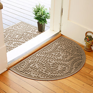 "Home Accent Aqua Shield Boxwood 24"" x 39"" Half Round Doormat, Khaki, rollover"