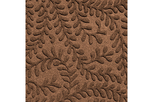 "Home Accent Aqua Shield Boxwood 24"" x 39"" Half Round Doormat, Dark Brown, large"