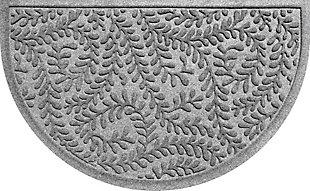 "Home Accent Aqua Shield Boxwood 24"" x 39"" Half Round Doormat, Medium Gray, large"