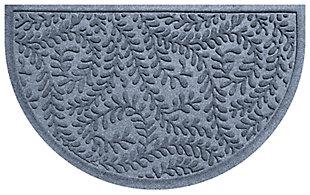 "Home Accent Aqua Shield Boxwood 24"" x 39"" Half Round Doormat, Bluestone, large"