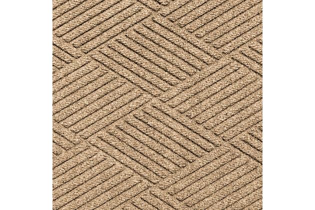 "Home Accent Aqua Shield Diamonds 24"" x 39"" Half Round Doormat, Khaki, large"