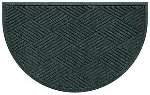 "Home Accent Aqua Shield Diamonds 24"" x 39"" Half Round Doormat, Evergreen, large"