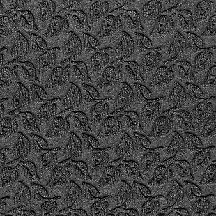 "Home Accent Aqua Shield Dogwood Leaf 24"" x 39"" Half Round Doormat, Charcoal, large"