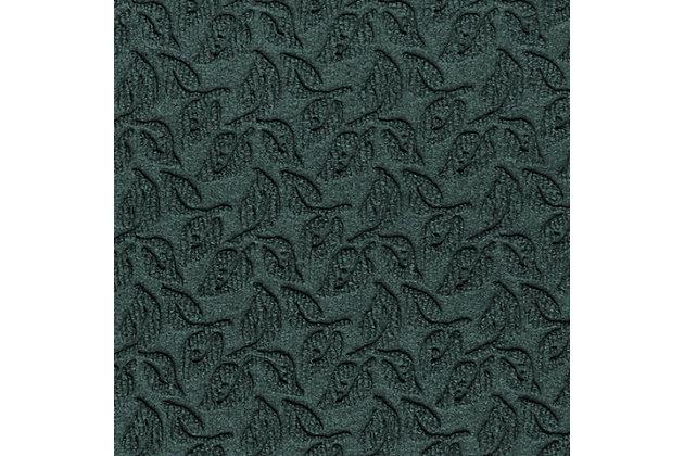 "Home Accent Aqua Shield Dogwood Leaf 24"" x 39"" Half Round Doormat, Evergreen, large"