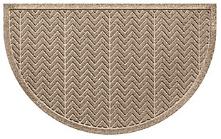 "Home Accent Aqua Shield Chevron 24"" x 39"" Half Round, Khaki, large"