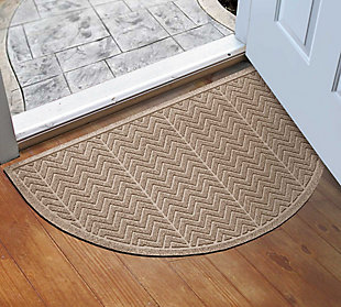 "Home Accent Aqua Shield Chevron 24"" x 39"" Half Round, Khaki, rollover"