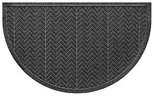 "Home Accent Aqua Shield Chevron 24"" x 39"" Half Round, Charcoal, large"