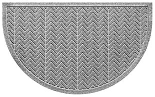"Home Accent Aqua Shield Chevron 24"" x 39"" Half Round, Medium Gray, large"