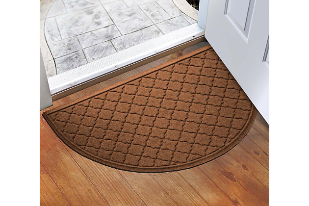 """Home Accent Aqua Shield Cordova 24"""" x 39"""" Half Round, Dark Brown, large"""